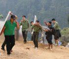 Tuổi trẻ Công an Sơn La tích cực tham gia hoạt động tình nguyện tại bản Làng Sáng, xã Háng Đồng, huyện Bắc Yên