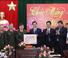 Đồng chí Chủ tịch UBND tỉnh kiểm tra công tác bảo đảm ANTT và chúc tết lực lượng Công an Sơn La