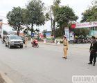 Lực lượng CSGT ra quân đảm bảo an toàn giao thông dịp bầu cử